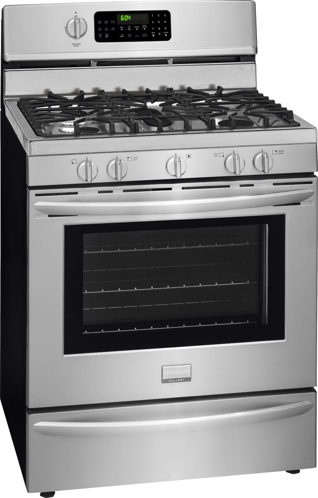 Gas Range With 5 Sealed Burners Frigidaire Gallery Series Fggf3060sf S Smudge Proof Stainless Steel Resists Fingerprints And Cleans Easily
