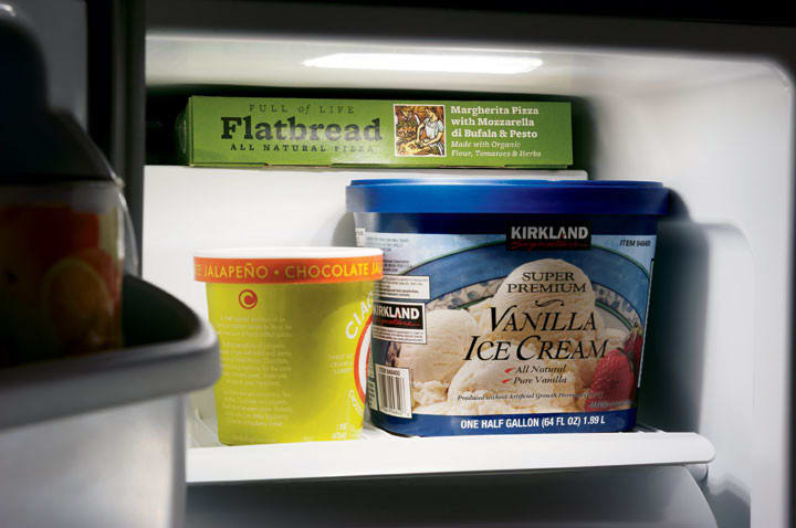 frigidaire gallery series fghs2631pp - ice cream / pizza shelf