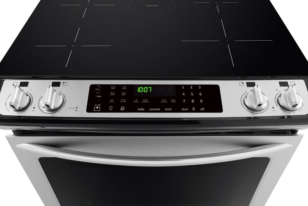 cooktop detail frigidaire gallery series fgis3065pf - control console