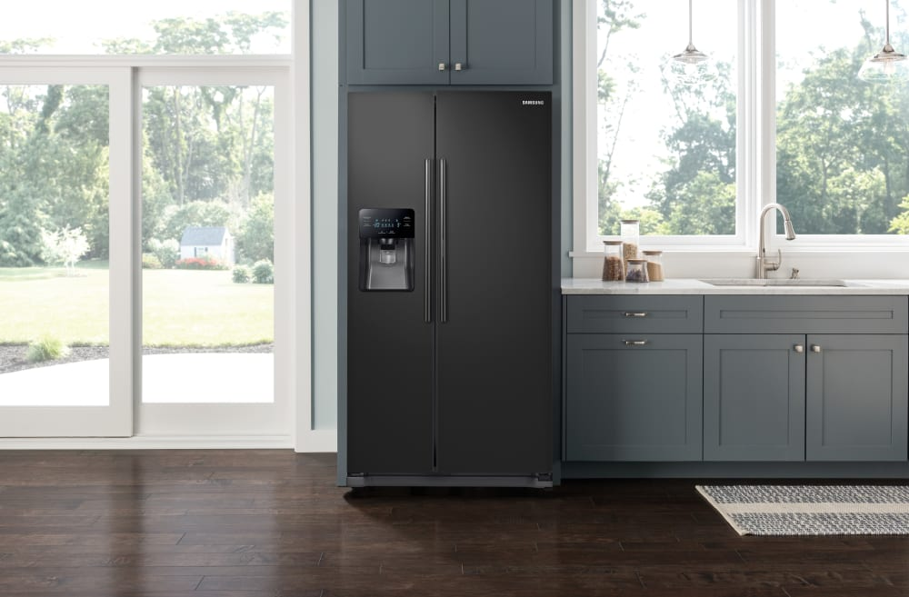 Rh25h5611bc Samsung Black Side By Side 36 Inch Refrigerator
