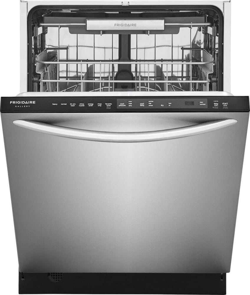 Frigidaire fgid2479sf fully integrated dishwasher with orbitclean frigidaire gallery series fgid2479sf open view rubansaba