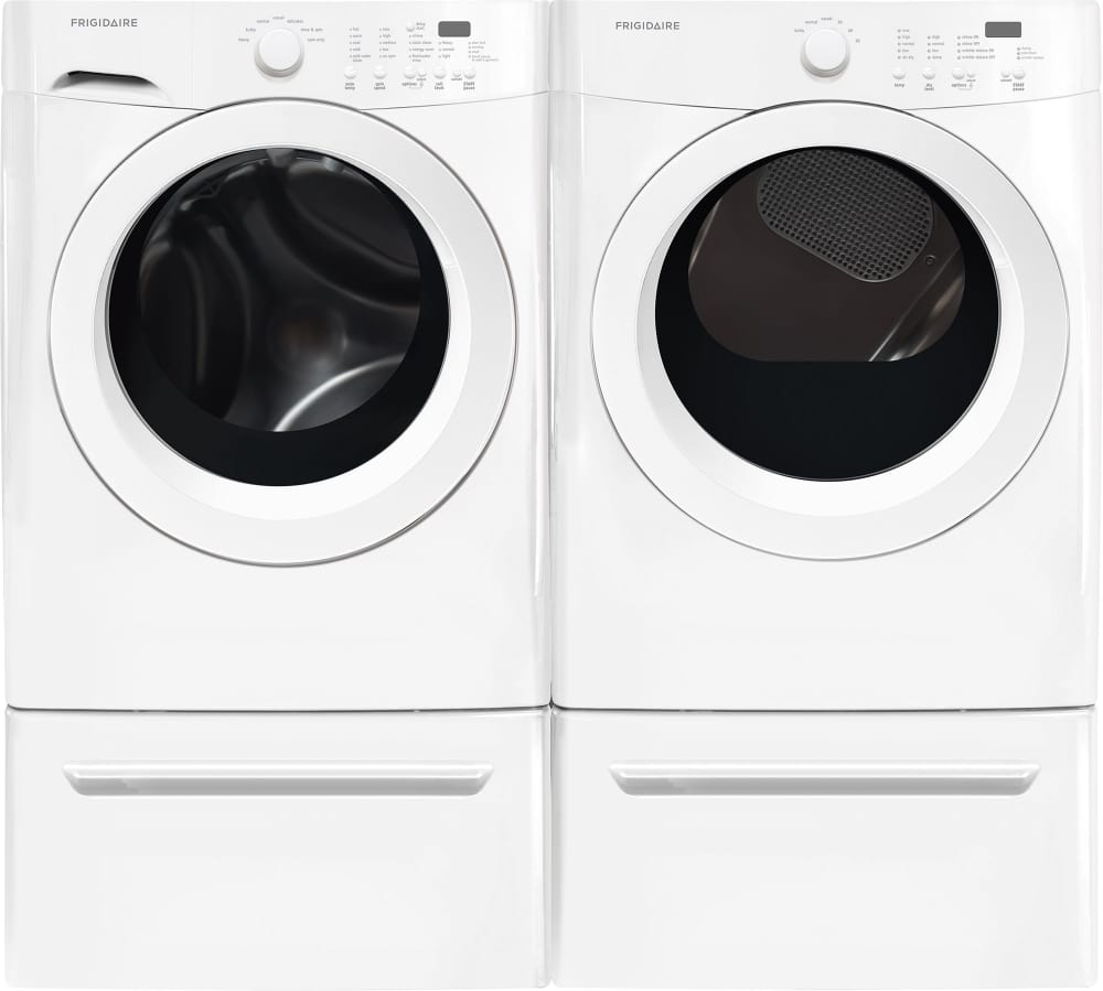 Frigidaire Fffw5000qw Shown With Matching Dryer Pedestals Sold Separately