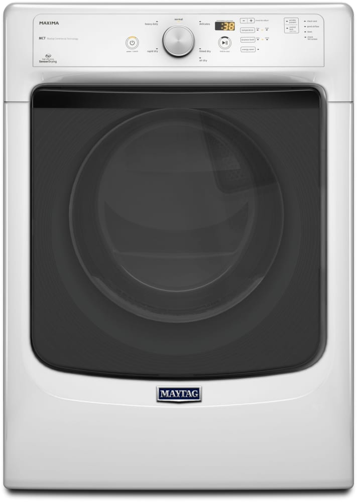 Maytag Med3100dw 27 Inch 7 4 Cu Ft Electric Dryer With 6 Drying Cycles 3 Temperature Settings