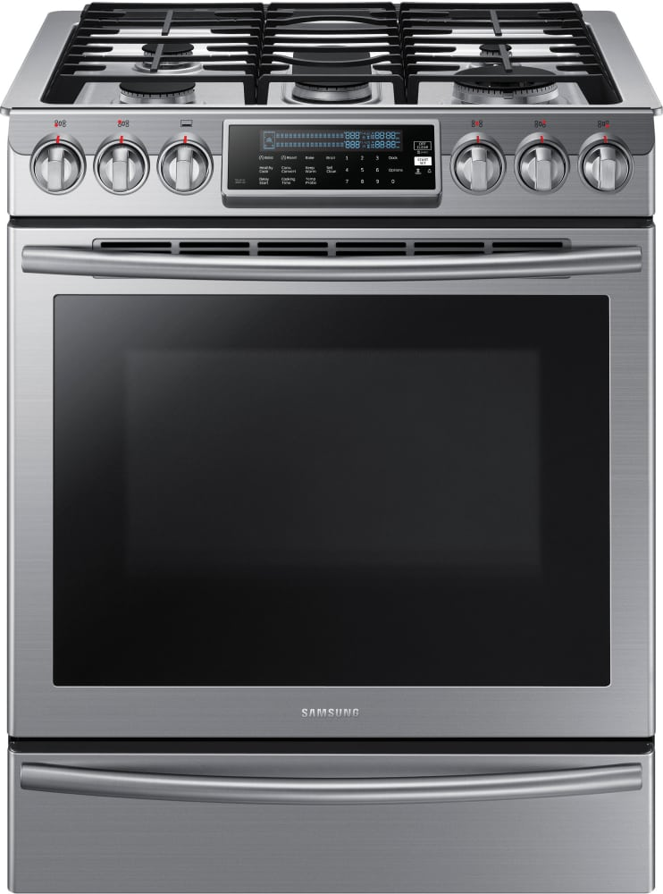 Samsung Nx58h9500ws 30 Inch Slide In Gas Range With True