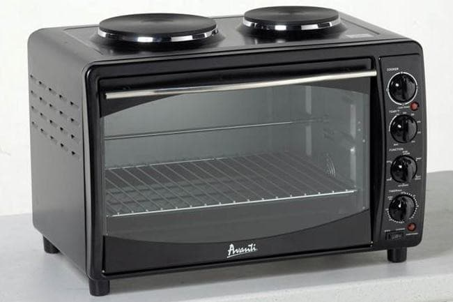 Progressive Get A Quote >> Avanti MKB42B 23 Inch Electric Multi-Function Oven with 2 Hotplate Burners, Convection Bake ...