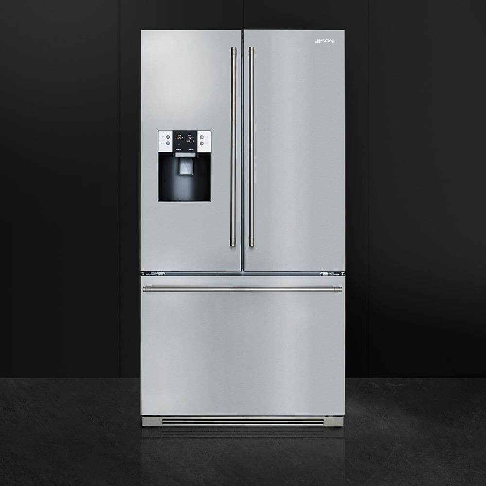 Smeg Ftu171x7 36 Inch French Door Refrigerator With Lcd