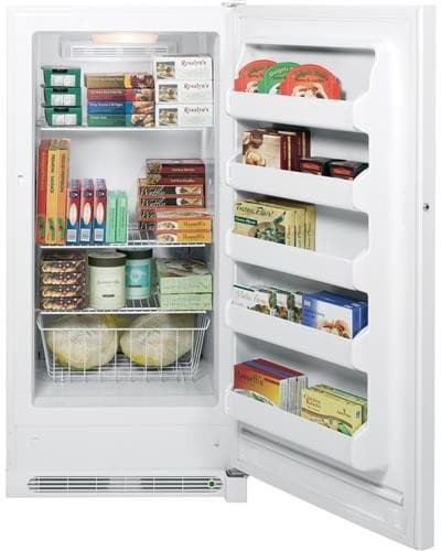 A Shelf 58 15c 5 Chrome Pull Out Basket: GE FUF14DHRWW 13.8 Cu. Ft. Upright Freezer With 3 Wire