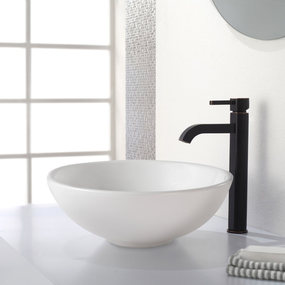 Kraus FVS1007ORB Single Lever Bath Faucet with 3 5/8 Inch Reach, 2.2 ...