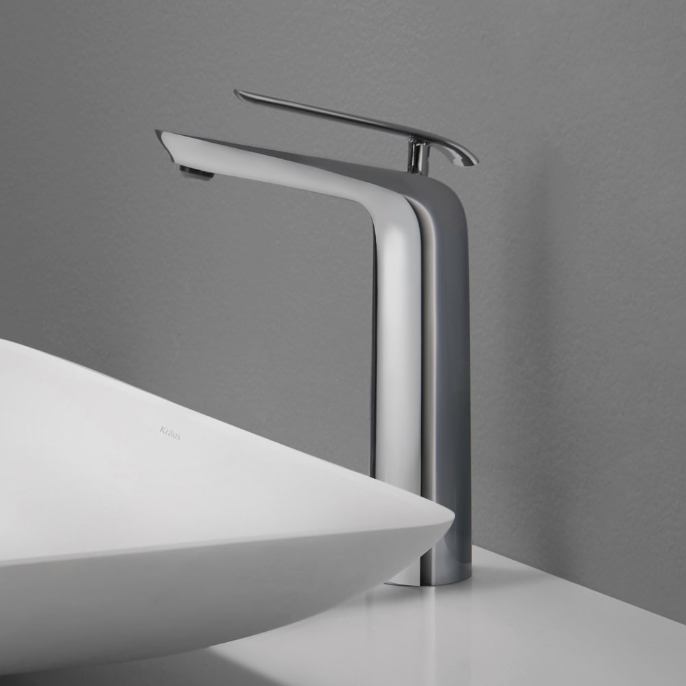 Kraus FVS1820CH Single Handle Cast Spout Vessel Sink Bathroom Faucet ...