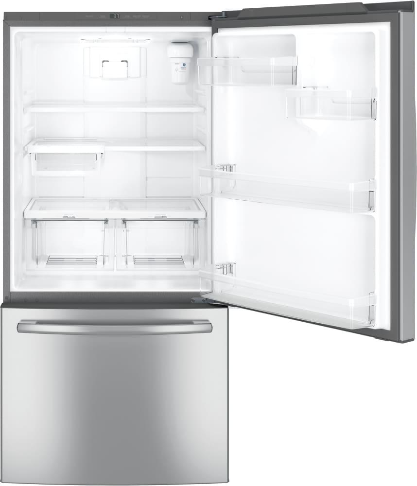 Ge Gde25eskss 33 Inch Bottom Mount Refrigerator With 24 9