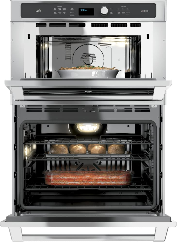 cafe ct9800shss 30 inch built in combination wall oven true total capacity cafe ct9800shss 6 7 cu ft