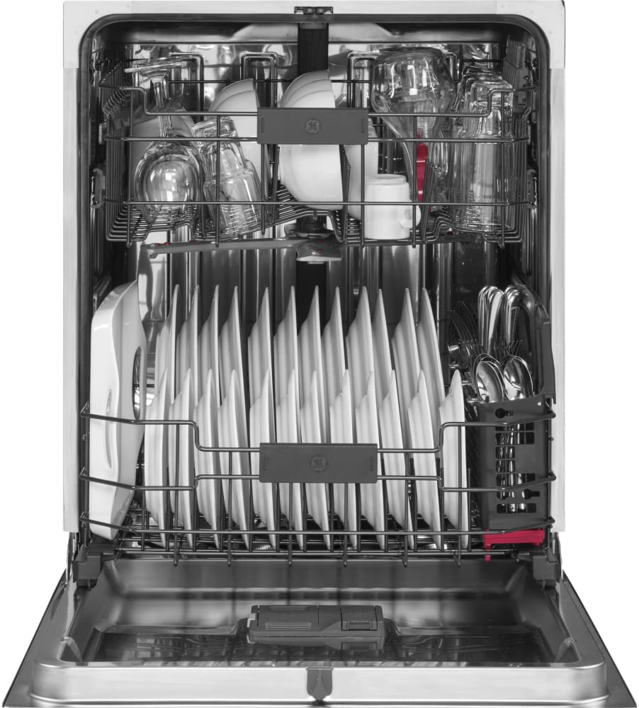 ge pdt825ssjss fully integrated dishwasher with quad blade wash arm piranha hard food disposer. Black Bedroom Furniture Sets. Home Design Ideas