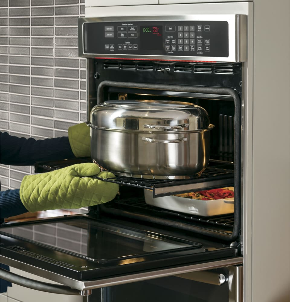 Ge Pt7550sfss 30 Inch Double Electric Wall Oven With True