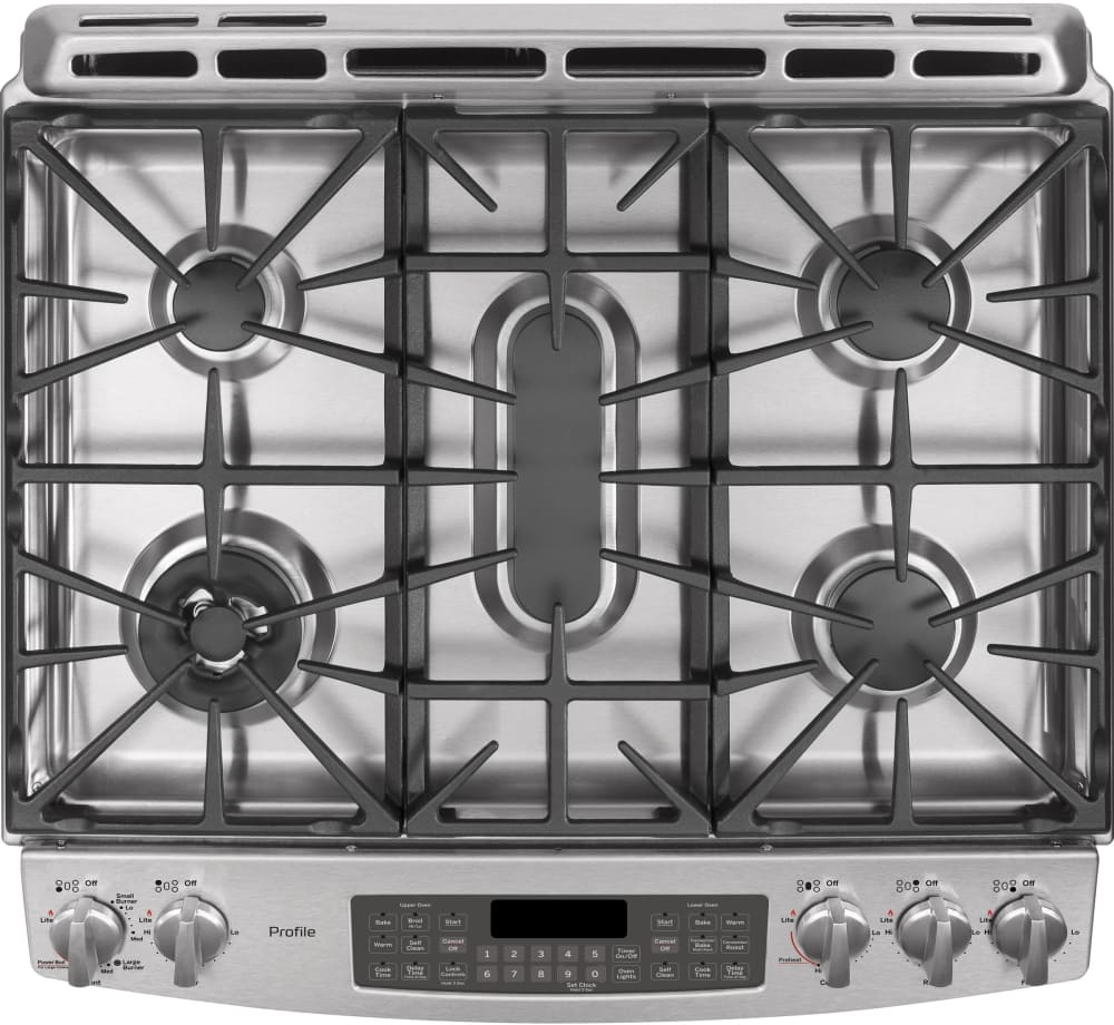 ge profile pgs950sefss 5 burner cooktop - Gas Range Double Oven