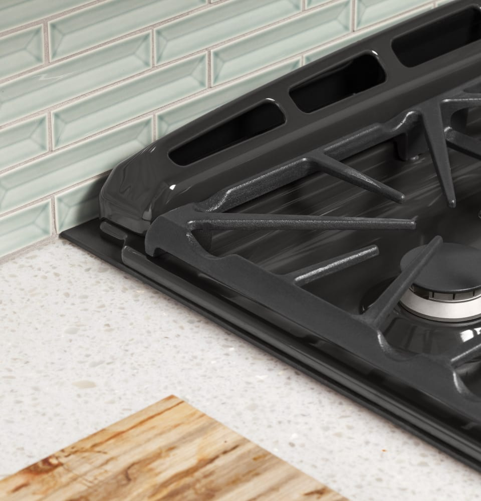 gas burners ge profile pgs950sefss slides in for a seamless look - Double Oven Gas Range