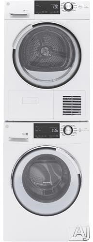 Ge Gewadrew222 Stacked Washer Amp Dryer Set With Front Load