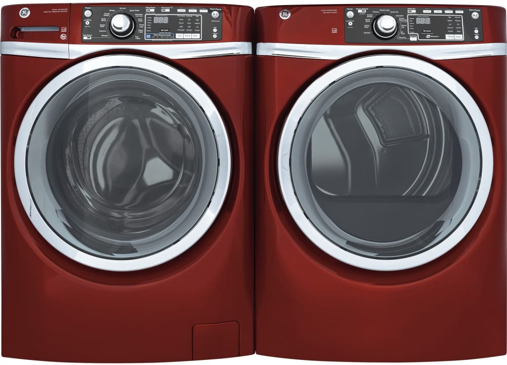 Ge Gfd48gspkrr 28 Inch Gas Dryer With 8 3 Cu Ft Capacity