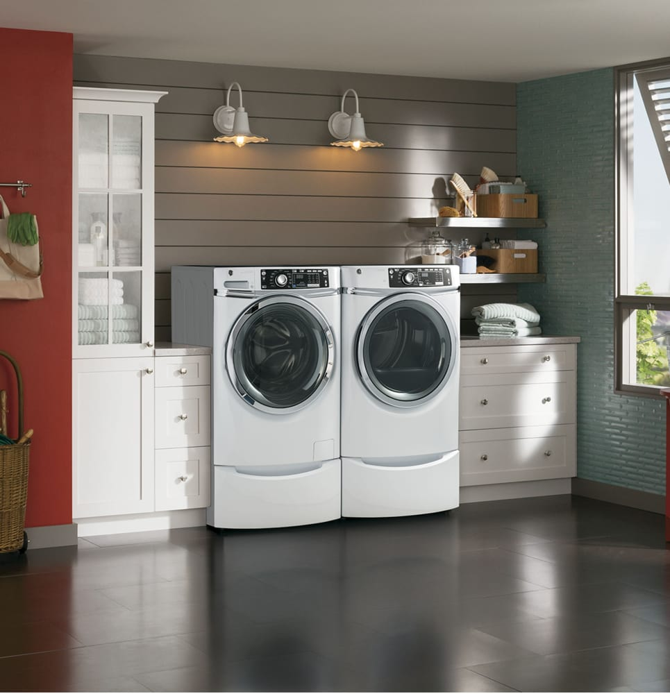 Ge Gfd48esskww 28 Inch Electric Dryer With 8 3 Cu Ft