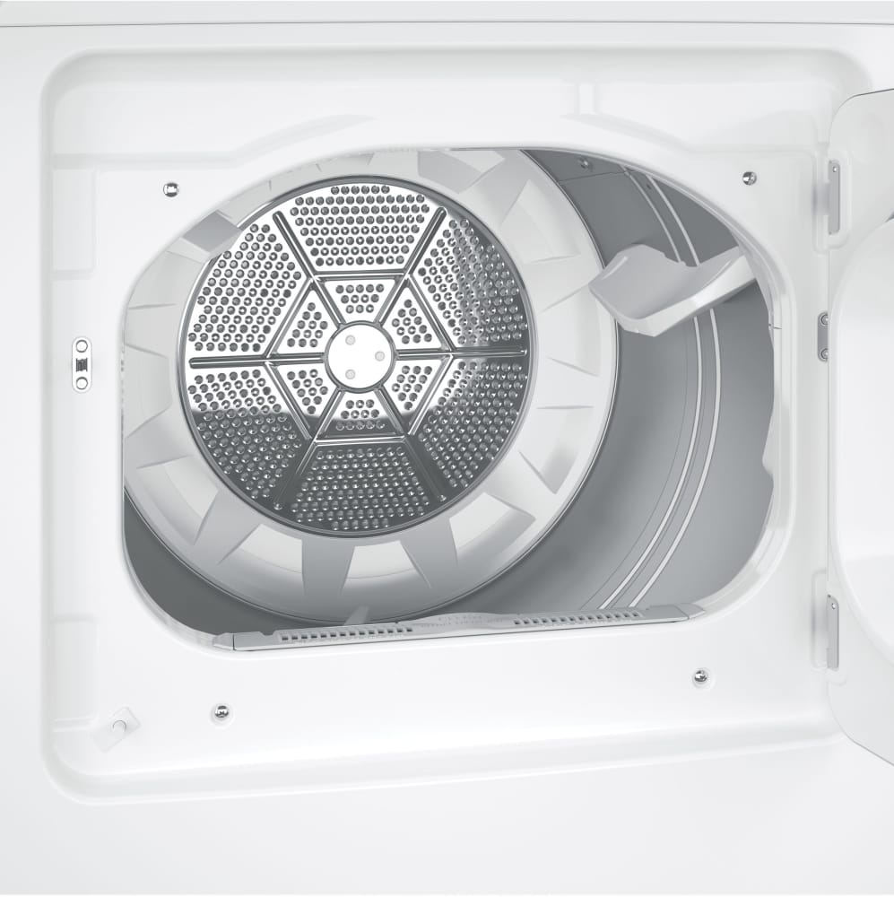 Ge Gtd45easjws 27 Inch 72 Cu Ft Long Vent Electric Dryer With 4 Clothes Wiring Diagram Capacity Rear Positioned Control Panel Aluminized Alloy Drum