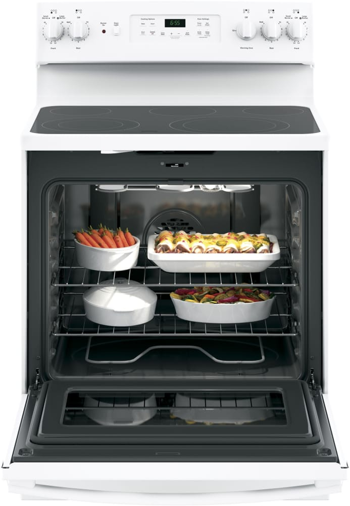 Convection Oven With Self Cleaning Mode Ge Jb655dkww In Use