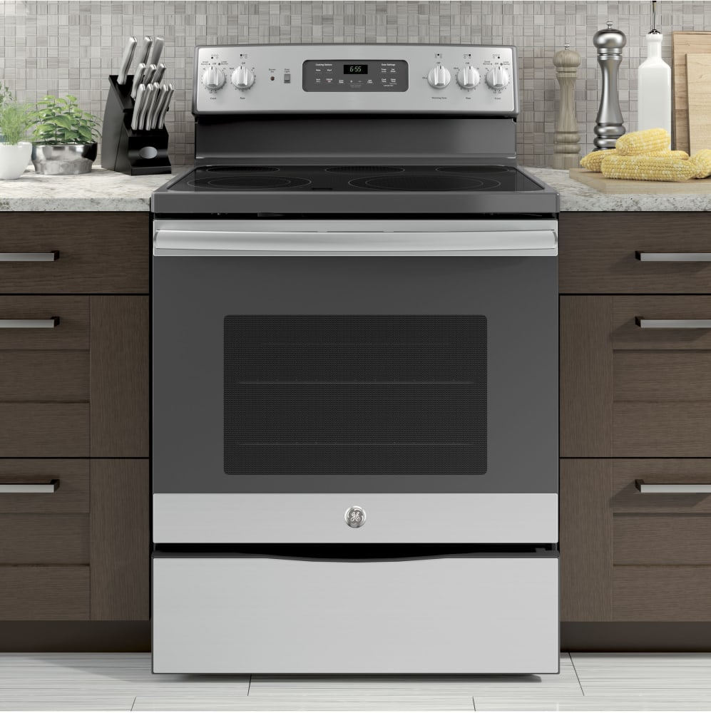 Kitchen Stoves And Ovens ~ Ge jb skss inch electric range with convection power