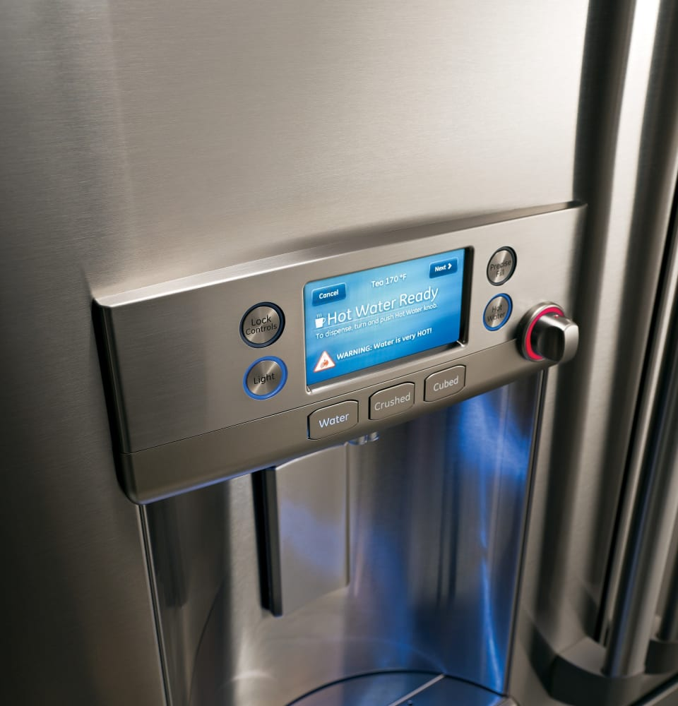 GE CFE28TSHSS 36 Inch French Door Refrigerator with LCD ...