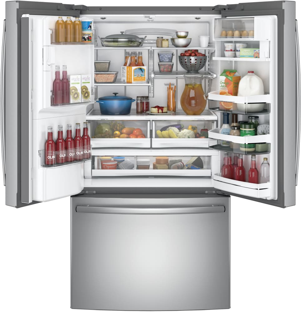 Ge pfe28kskss 36 inch french door refrigerator with twinchill refrigerator from ge ge profile pfe28kskss 278 cu ft rubansaba
