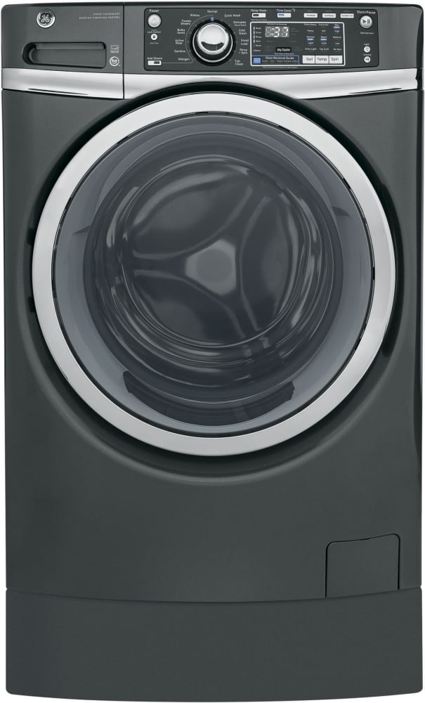 Ge Rightheight Design Series Gfw490rpkdg Front Load Washer With Built In