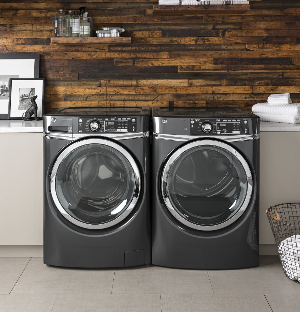 Ge Gfw490rpkdg 28 Inch Front Load Washer With 4 9 Cu  Ft