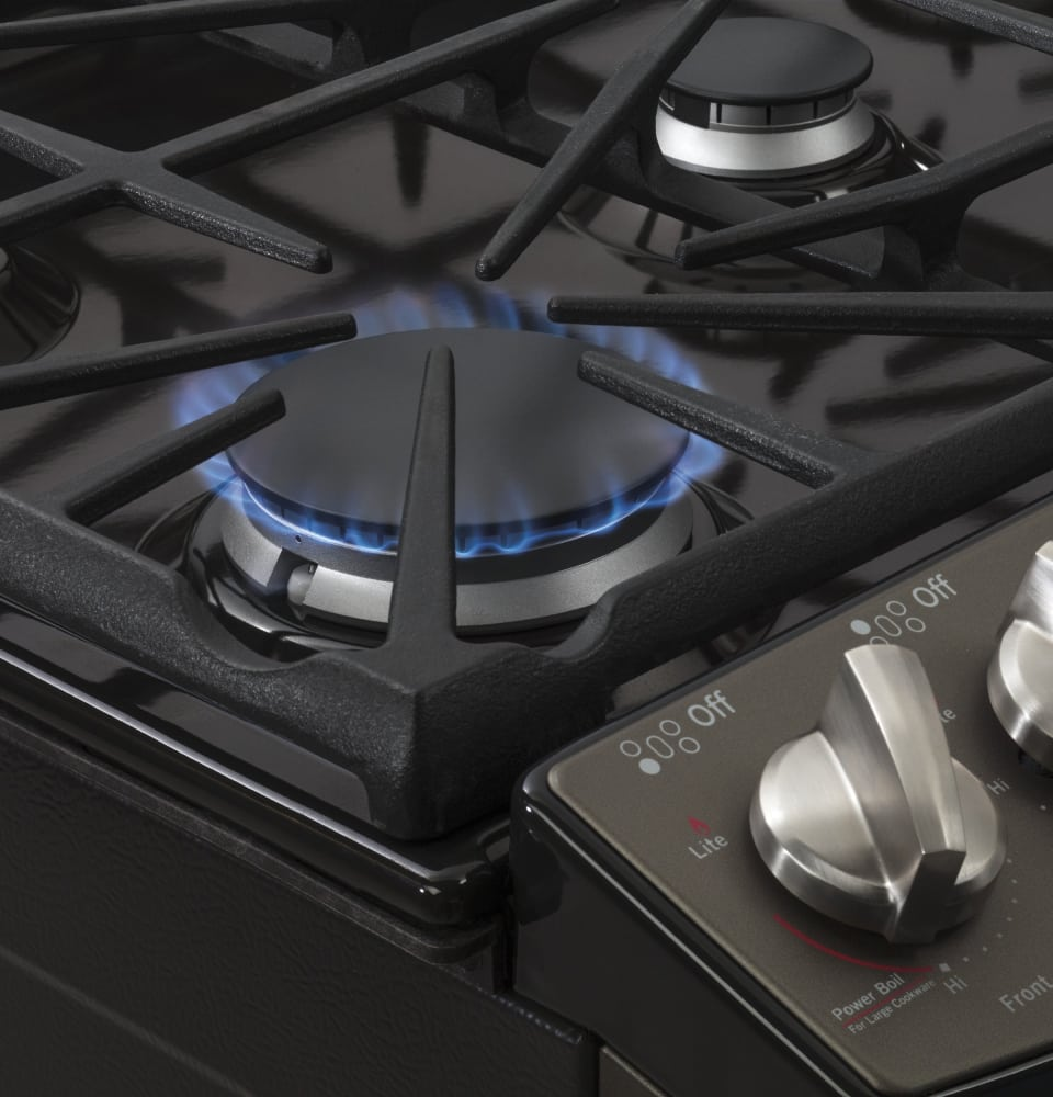 ge jgs750eefes 30 inch slidein gas range with convection power boil burner precise simmer ge fits guarantee storage drawer selfclean