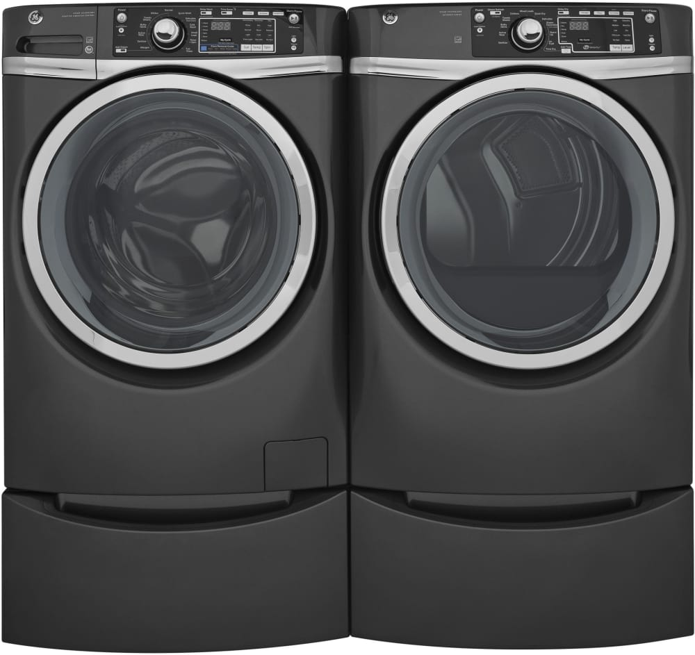Ge Gfw480spkdg 28 Inch Front Load Washer With 4 9 Cu Ft