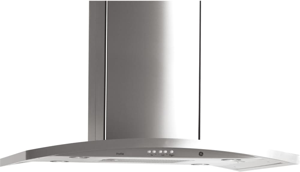 Ge Pv977nss 36 Inch Island Chimney Hood With 450 Cfm