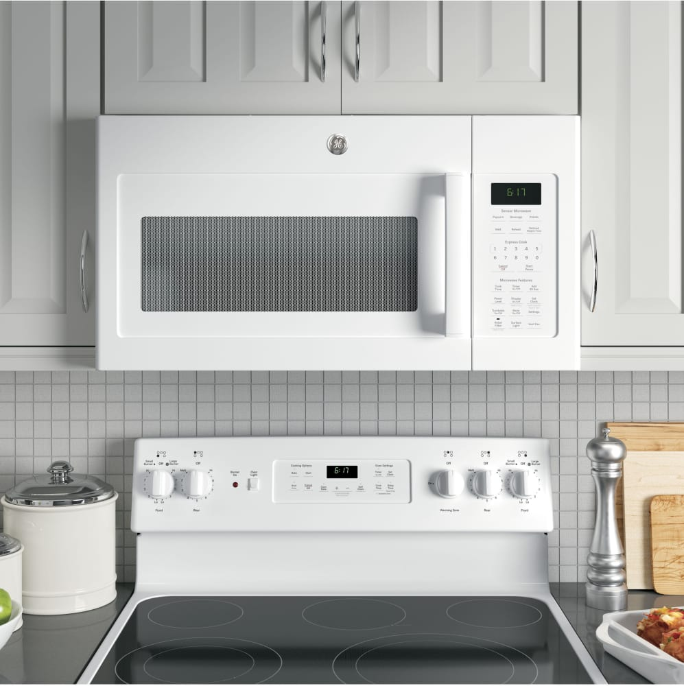Installation of ge microwaves over the range -  Ge Jvm6175dkww Kitchen View