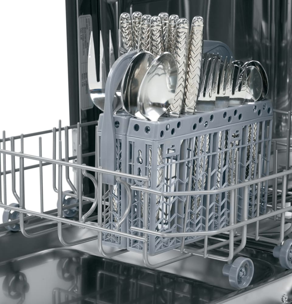 Silverware Dishwasher Ge Pdw1800kww 18 Inch Fully Integrated Dishwasher With Delay Start