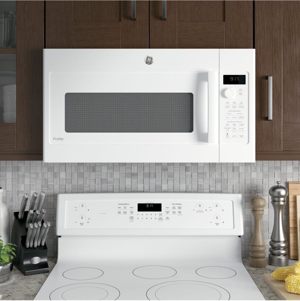 GE PVM9179DKWW 30 Inch Over-the-Range Microwave with Convection ...
