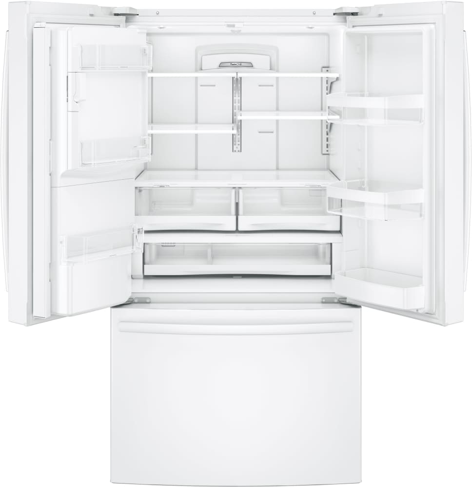 Ge gfe28g 36 inch french door refrigerator with twinchill turbo ft capacity interior eventelaan Images