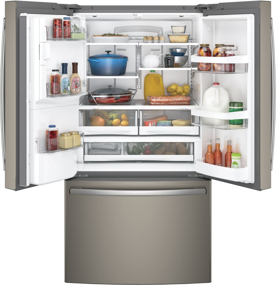 Ge gfe28gmkes 36 inch french door refrigerator with twinchill ft capacity interior eventelaan Images