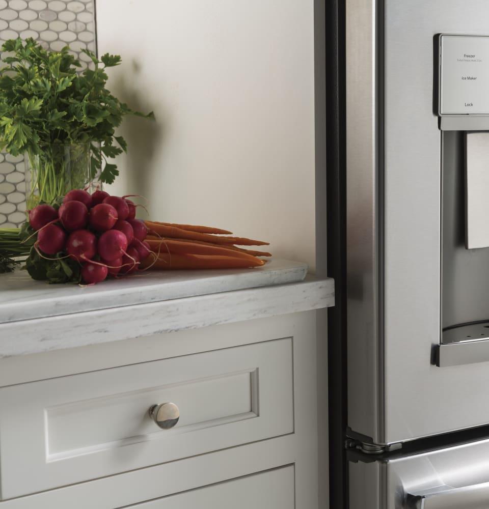 Best Cabinet Depth Refrigerator Ge Gye22hskss 36 Inch Counter Depth French Door Refrigerator With