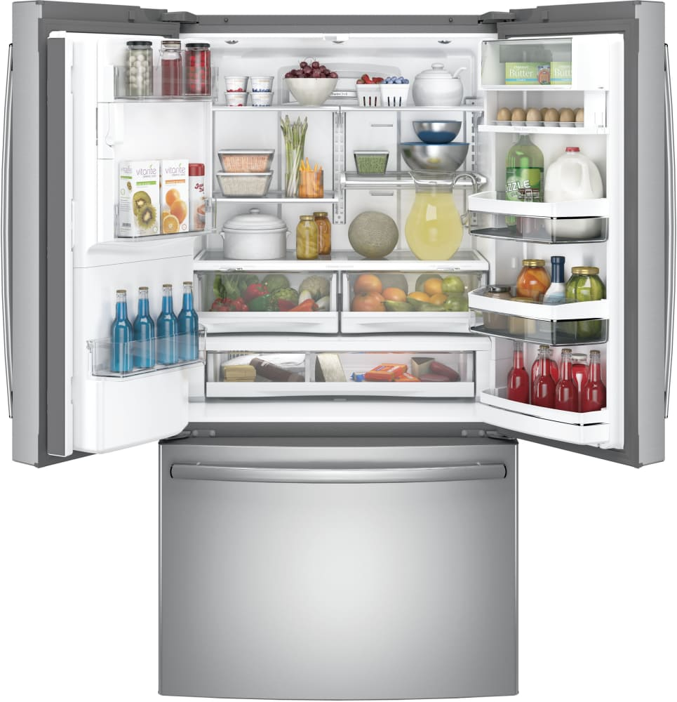 Ge pye22kskss 36 inch counter depth french door refrigerator with ft interior ge profile pye22kskss 222 cu rubansaba