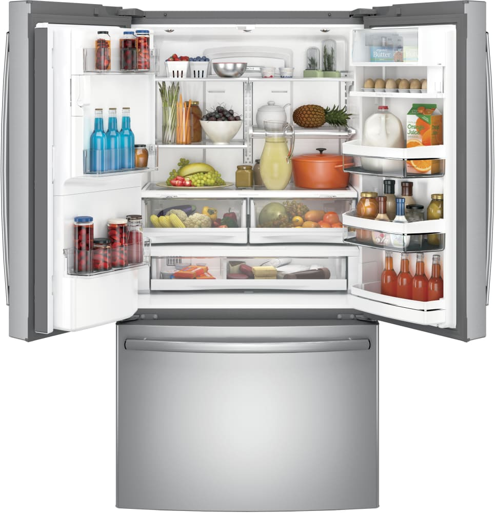 GE PYE22PSKSS 36 Inch Counter Depth French Door Refrigerator with ...