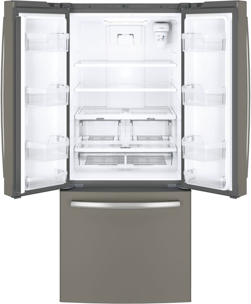 Ge Gne21fmkes 30 Inch French Door Refrigerator With Led