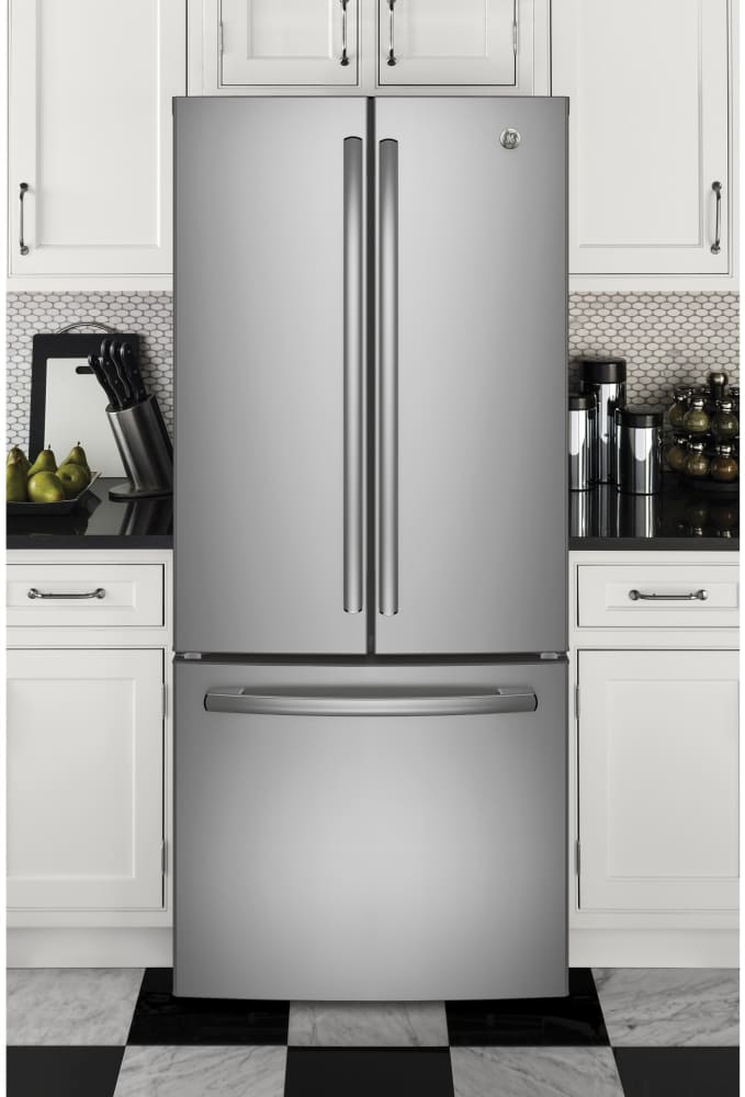 Ge Gne21fskss 30 Inch French Door Refrigerator With Led