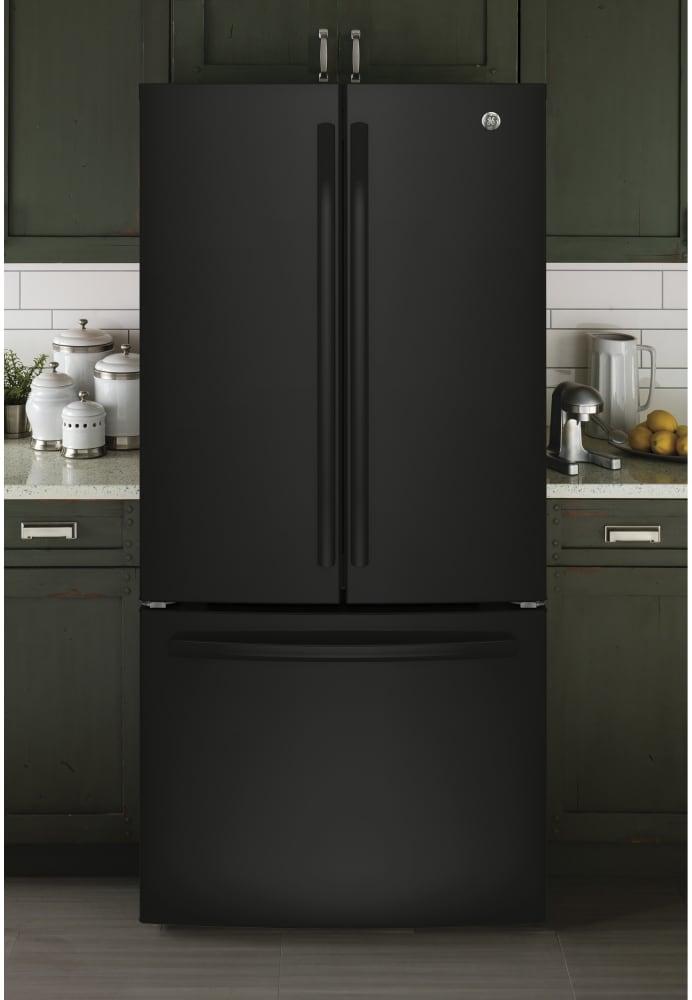 Ge Gne25jgkbb 33 Inch Smart French Door Refrigerator With