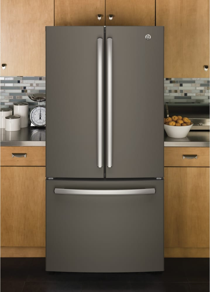 Ge Gne25jmkes 33 Inch Smart French Door Refrigerator With
