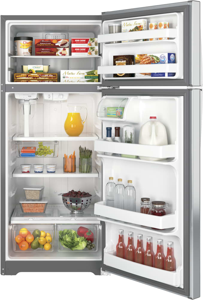 GE GAS18PSJSS 28 Inch Top-Freezer Refrigerator with 17.5 cu. ft ...