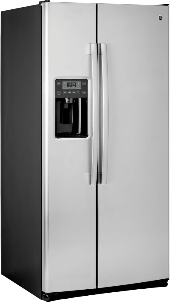 ge gss23gskss 33 inch side by side refrigerator with ice. Black Bedroom Furniture Sets. Home Design Ideas