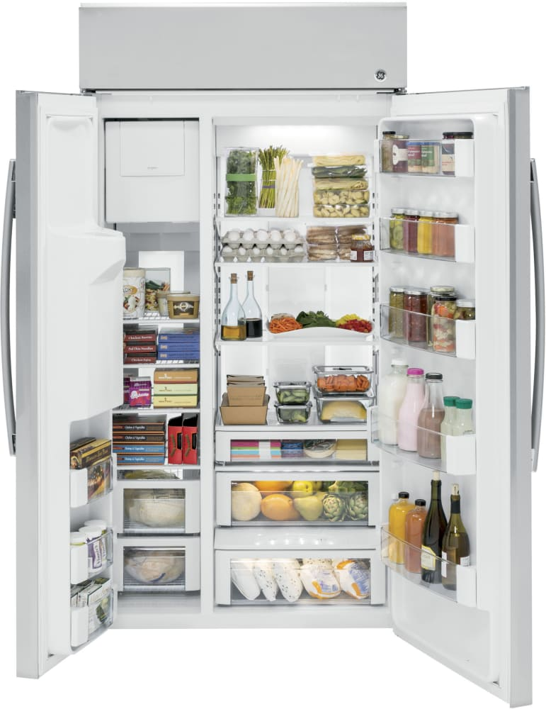 Ge Psb42yskss 42 Inch Built In Side By Side Refrigerator