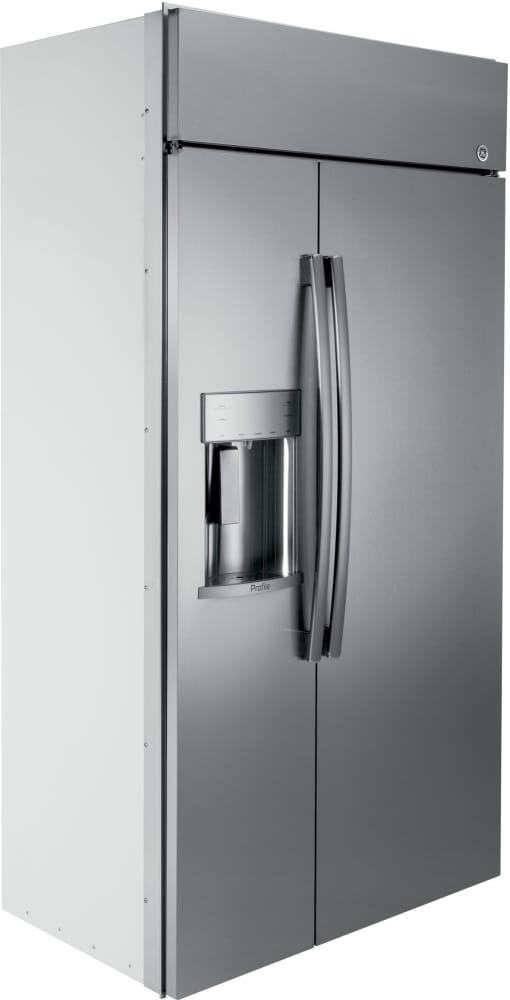 Ge Psb42yskss 42 Inch Built In Side By Side Refrigerator With 24 3 Cu Ft Capacity
