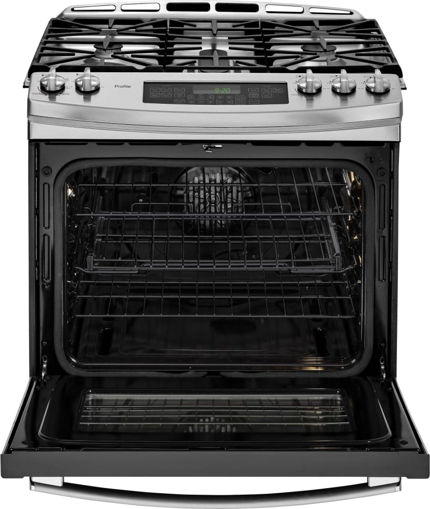 GE PGS920SEFSS 30 Inch Slide-in Gas Range with Gas Convection ...