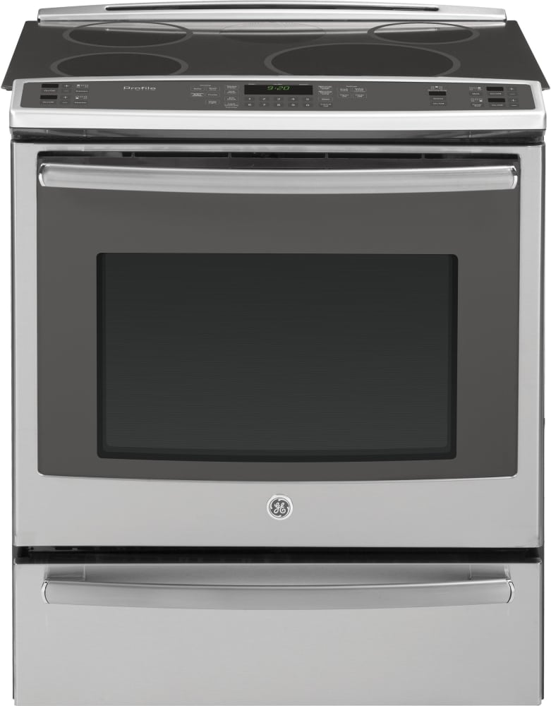 ge phs920sfss 30 inch slide in induction range with true convection meat probe warming drawer. Black Bedroom Furniture Sets. Home Design Ideas